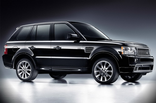 Blake's black Range Rover