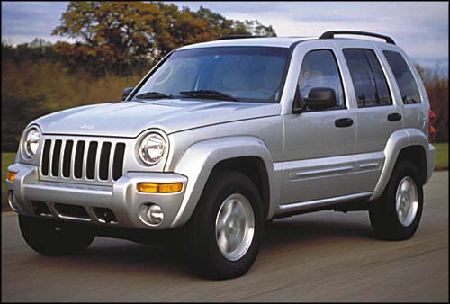 Chris's silver Jeep Liberty