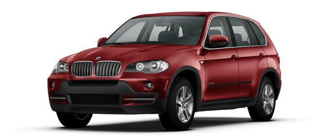 Danielle's red BMW SUV